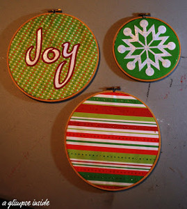 Beautiful Embroidery Hoop Ornaments
