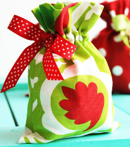 Drawstring Fabric Gift Bags