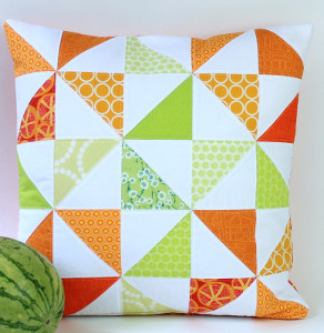 Quilted Melon Slice Pillow