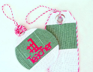 No Sew Fabric Gift Tags