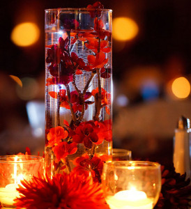 Romantic Floating Cherry Blossom Centerpieces