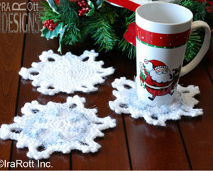 Rest That Mug Of Christmas Cocoa On A Pretty Snowflake Coaster This Free Crochet Pattern Is Simple And Sweet Youll Love Working These Up As