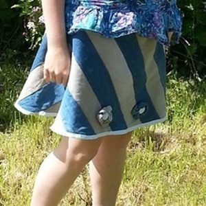 Old Jeans Free Skirt Pattern