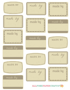 Sepia and Taupe Card Making Labels