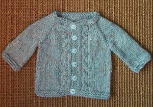 Max Knit Baby Cardigan | AllFreeKnitting.com