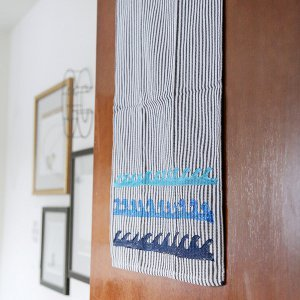 No-Sew Nautical Kitchen Towel