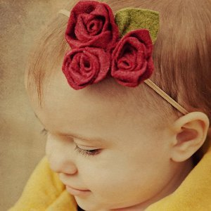 Fabric Rose Pattern Headband
