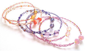 Delicate Sorbet Shades Braided Bracelets
