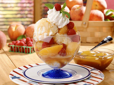 Peach Melba Parfaits