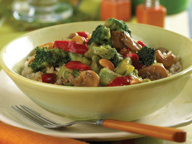 Vegetable Brown Rice Stir Fry