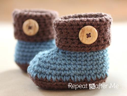 Cuffed Baby Booties Allfreecrochet