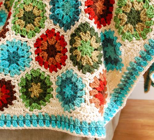 Granny Hexagon Afghan Allfreecrochet