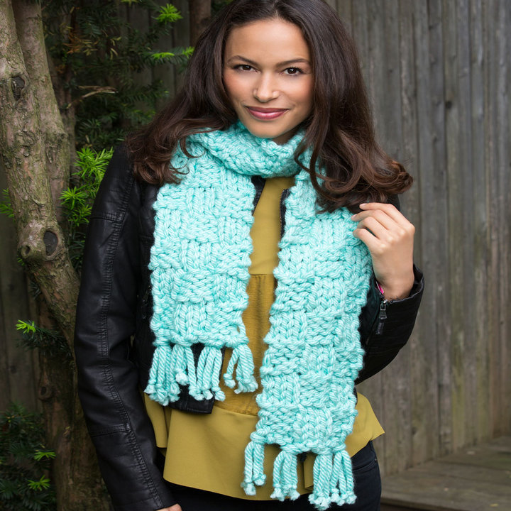 One Sitting Scarf | AllFreeKnitting.com
