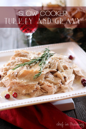 Slow Cooker Herb Turkey and Gravy
