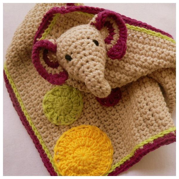 Darling Elephant Crochet Lovey ... - photo#17