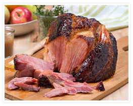Brown Sugar Honey Bourbon Glazed Ham