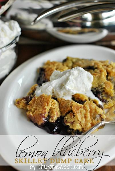 Lemon Blueberry Skillet Dump Cake Thebestdessertrecipes Com