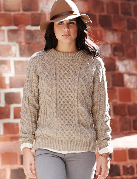 Oats and Honeycomb Cabled Sweater