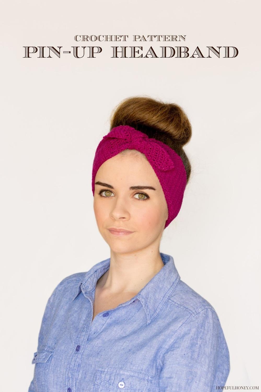 Retro Pin-Up Headband | AllFreeCrochet.com