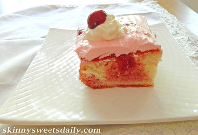 Old Fashioned Cherry Poke Cake full
