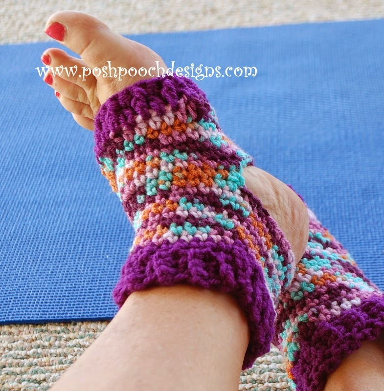 Yoga Crochet Socks | AllFreeCrochet.com