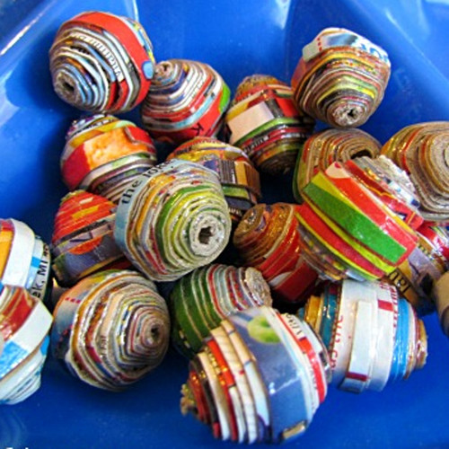 how to make large round paper beads