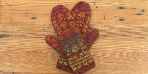 falling leaves mittens ir