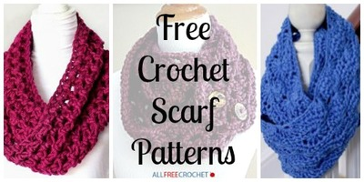 34 Free Crochet Scarf Patterns