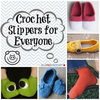 38 Easy Crochet Slippers for Adults and Kids