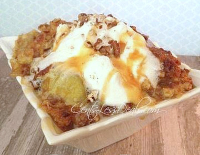 4 Ingredient Caramel Apple Dump Cake