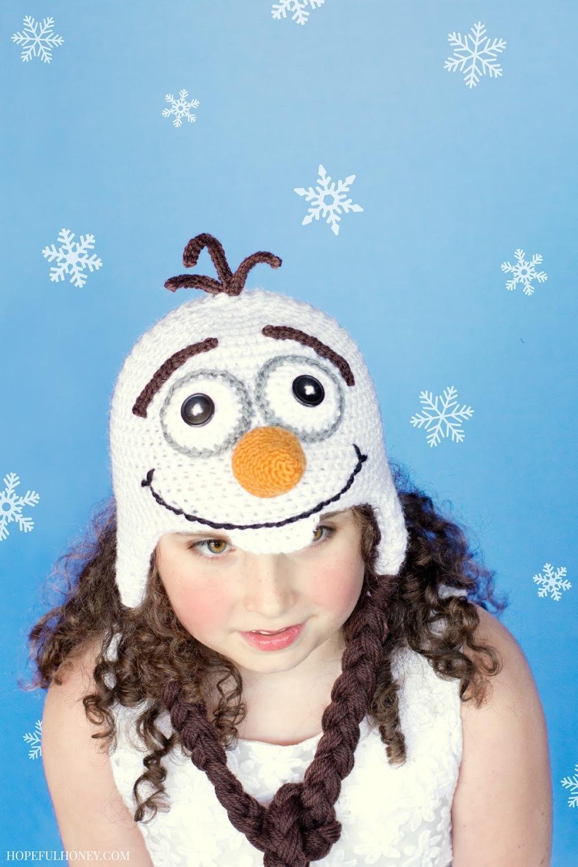 Frozen Snowman Hat | AllFreeCrochet.com