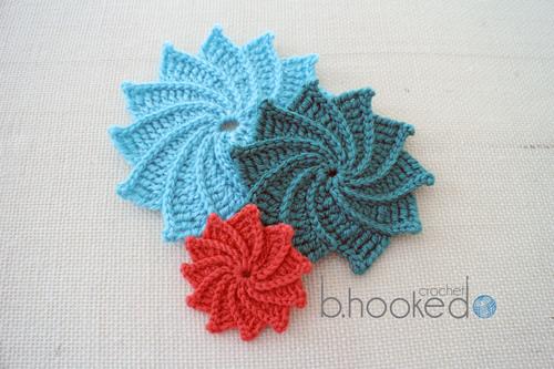 Spiral Flowers Allfreecrochet