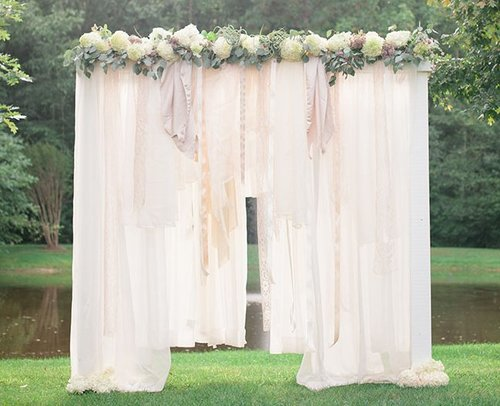 Breathtaking Bohemian Outdoor Wedding Altar AllFreeDIYWeddingscom