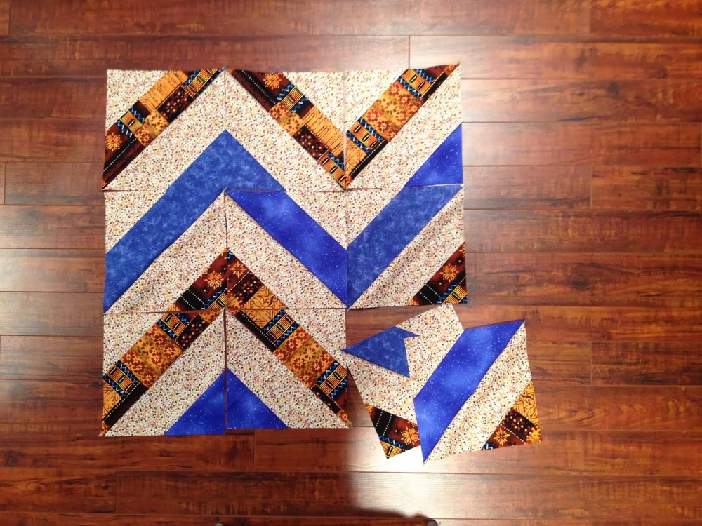 Chevron Strip Tube Block Favequilts Com