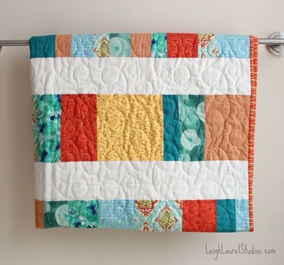 bright and cheery fat quarter quilt master