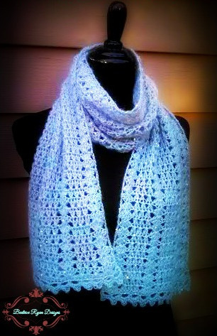 Angelic Winter Scarf Allfreecrochet