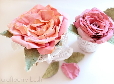 Faux Mulberry Paper Roses IMR