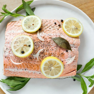 Poached Salmon with Lemon and Fresh Herbs