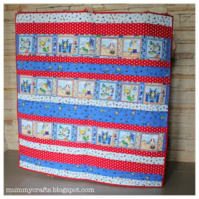 beach baby strip quilt