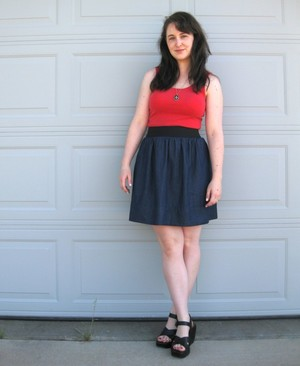 Elastic Waistband Dress
