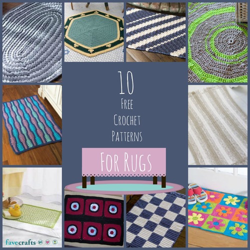 10 Free Crochet Patterns For Rugs