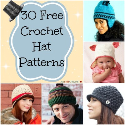 30 Free Crochet Hat Patterns | AllFreeCrochet.com