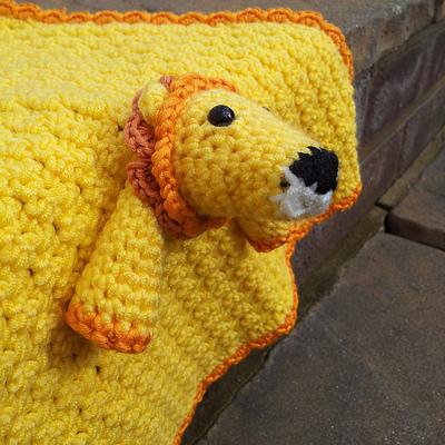 Magnificent Lion Crochet Lovey