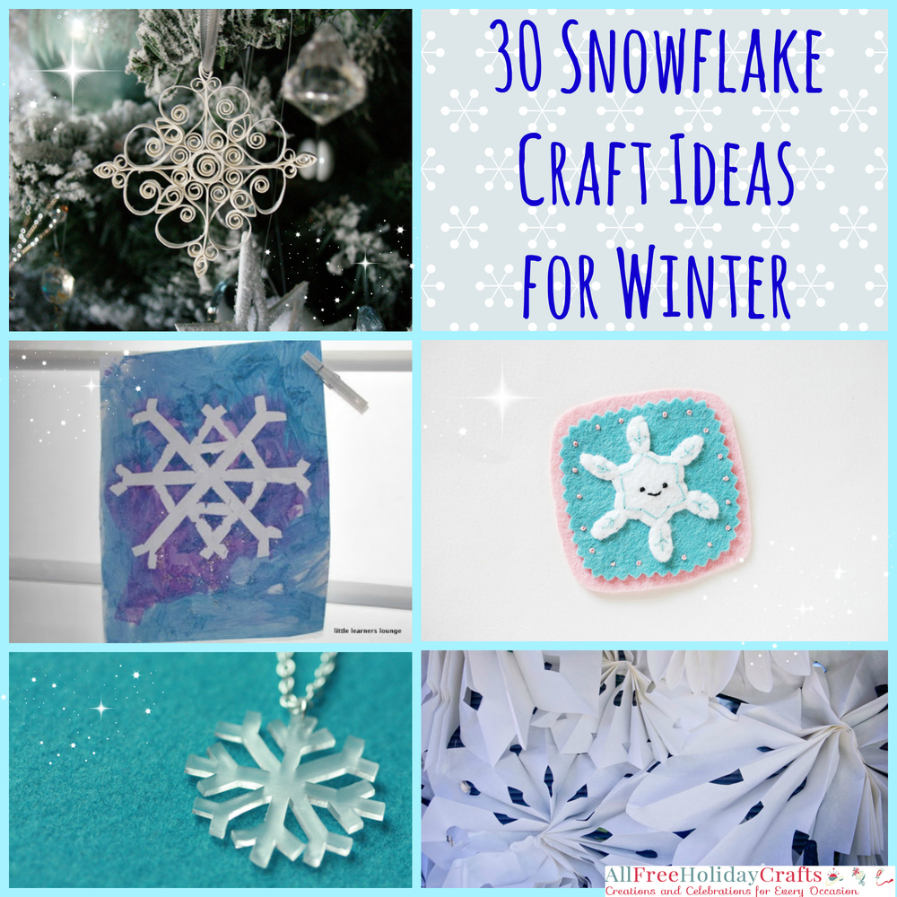 winter party craft ideas 30 snowflake craft ideas for winter allfreeholidaycrafts 5738