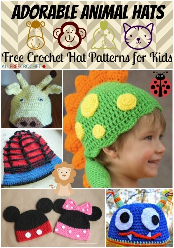 Adorable Animal Hats: 41 Free Crochet Hat Patterns for ...