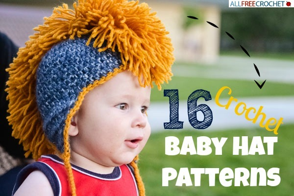 16 Crochet Baby Hat Patterns Allfreecrochet