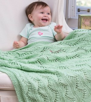 Lace Chevrons Baby Blanket