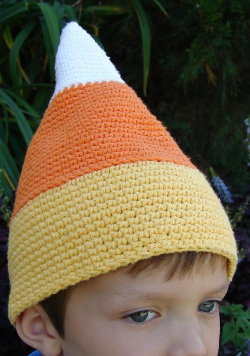 Candy Corn Crochet Hat | AllFreeCrochet.com