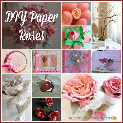 How To Make A Paper Rose 30 Diy Paper Roses Allfreepapercrafts