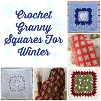24 Crochet Granny Squares for Winter
